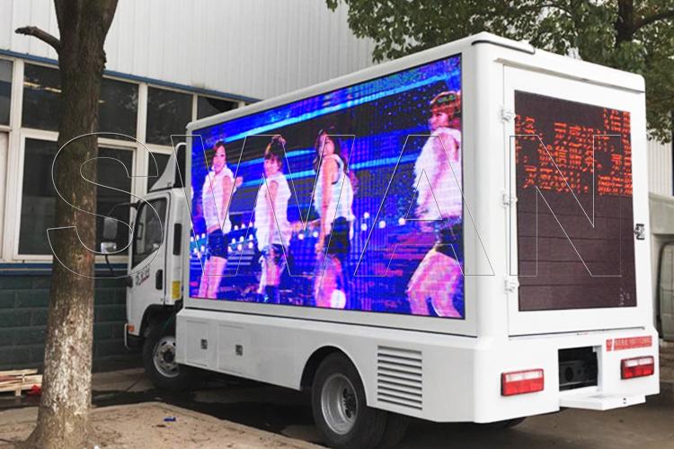 led грузовик реклама на колёсах